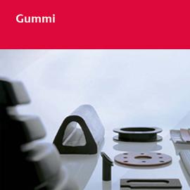 Gummi - vom Plattenmaterial bis zum kundenspezifischen Profil oder Formteil