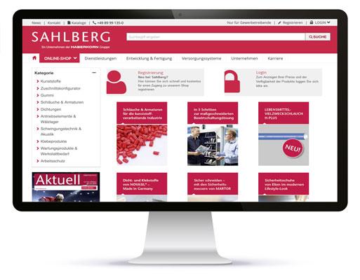 Der SAHLBERG Online-Shop