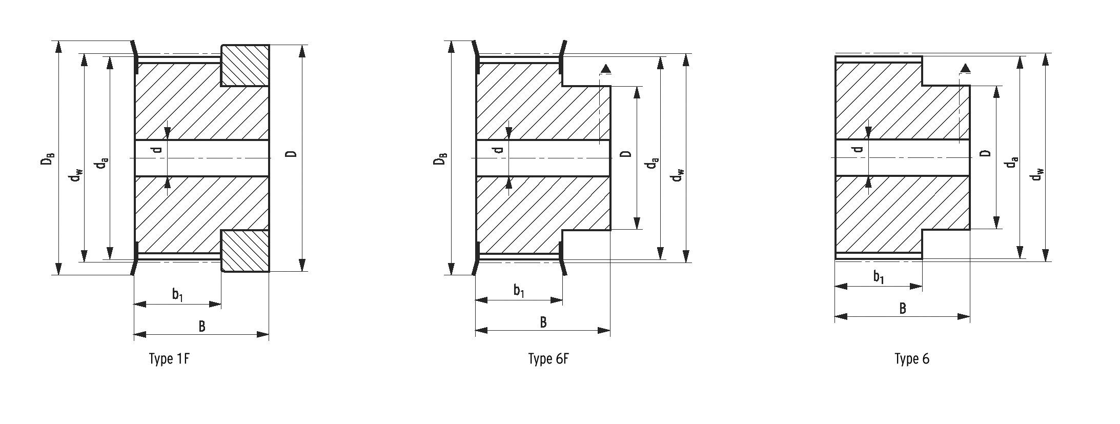 HTD Zahnriemenscheibe 3M  28-3M-9 mm Riemenbreite Teilung 3 mm