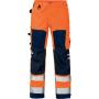 Hi-Vis Bundhose 2026 PLU orange/marine