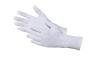 Baumwolltrikot-Handschuhe weiß gebleicht