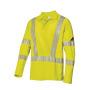 BP® Langarm Poloshirt unisex, warngelb
