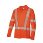 BP® Langarm Poloshirt unisex, warnorange
