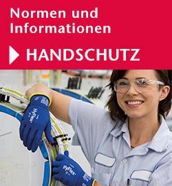 Normen und Informationen Handschutz