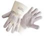 Kernspaltleder Handschuh weißer Canvas