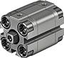 Kompaktzylinder ADVULQ P-A Festo IG, Dämpfung P