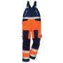 Hi-Vis Latzhose 1015 PLU warnschutzorange/marine