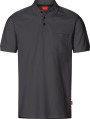 Apparel Baumwoll Polo-Shirt mit Brusttache, dunkelgrau