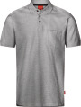 Apparel Baumwoll Polo-Shirt mit Brusttache, hellgrau