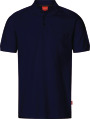 Apparel Baumwoll Polo-Shirt mit Brusttache, saphirblau