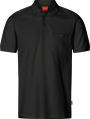 Apparel Baumwoll Polo-Shirt mit Brusttache, schwarz